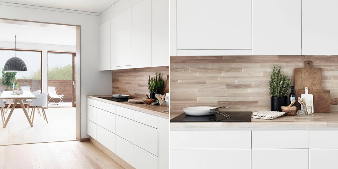 100 idee cucine moderne in legno  Bianche nere colorate  Idee colori cucina moderna legno
