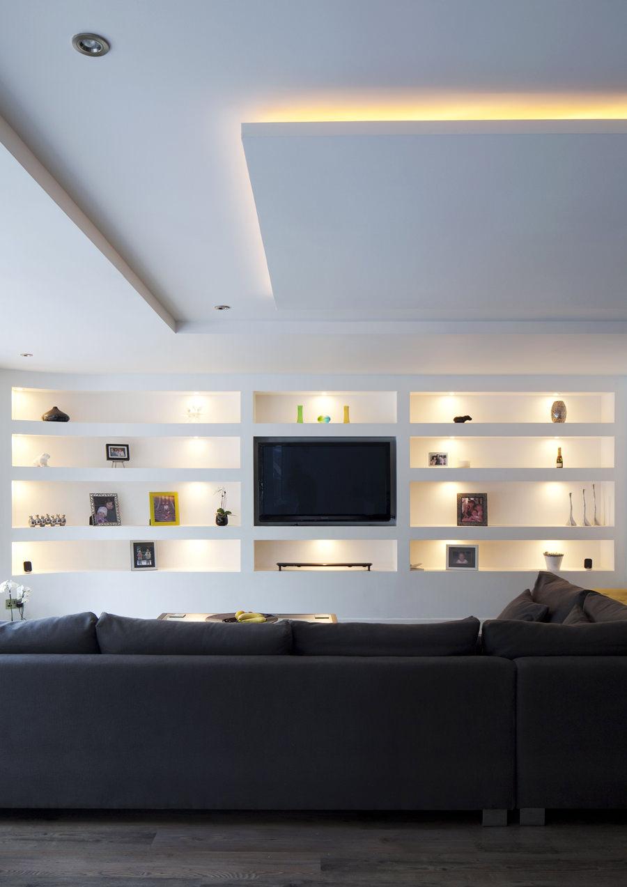 Parete attrezzata in cartongesso per il soggiorno  Info prezzi e 40 idee moderne  Start