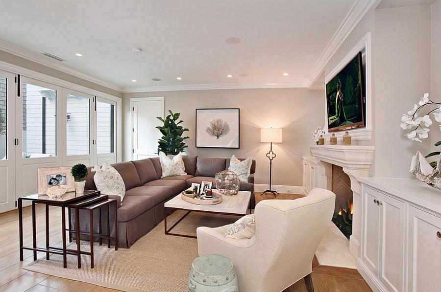 Colore pareti soggiorno  Cambiare stile senza spendere