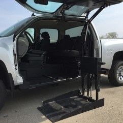 Wheelchair Lift For Truck Homestore And More Dining Chair Covers All Terrain Conversions Atc 45 Degree Platform Conversion
