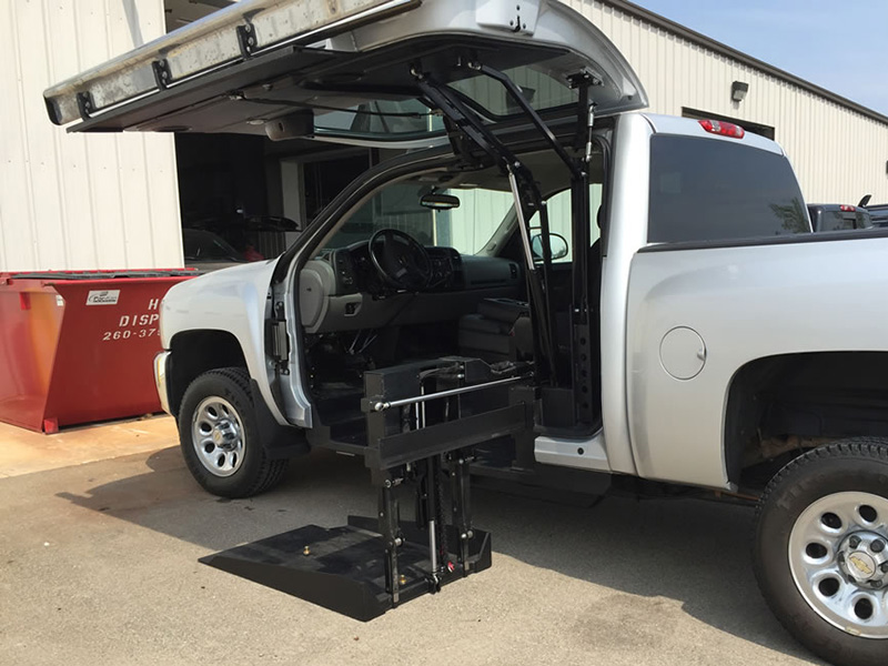 wheelchair lift for truck wheel chair in mumbai all terrain conversions atc 45 degree platform conversion