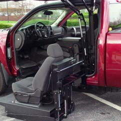 Wheelchair Lift For Truck Ergonomic Office Chairs Uk All Terrain Conversions Atc 45 Degree Platform Conversion