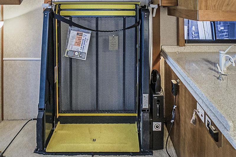 RV Auto Lift Two Shower Seat Wheelchair Lift