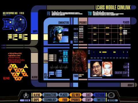 Star Trek PADD for iPad