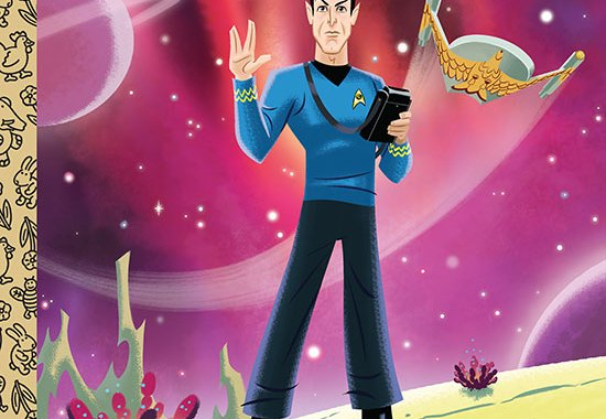 Spock & Kirk Get Little Golden Books Treatment
