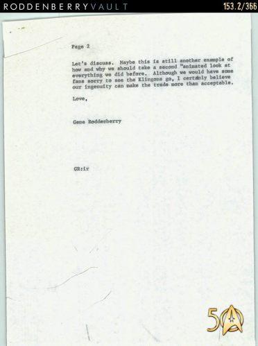 Letter - Klingons 1973 p2