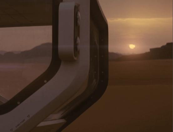 Amanecer en Marte en la película