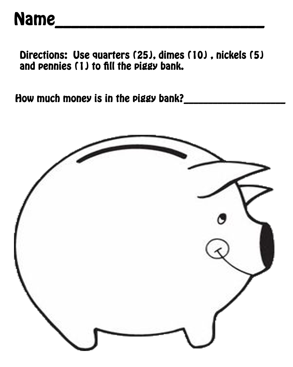 Hands On Teaching Piggy Bank Math