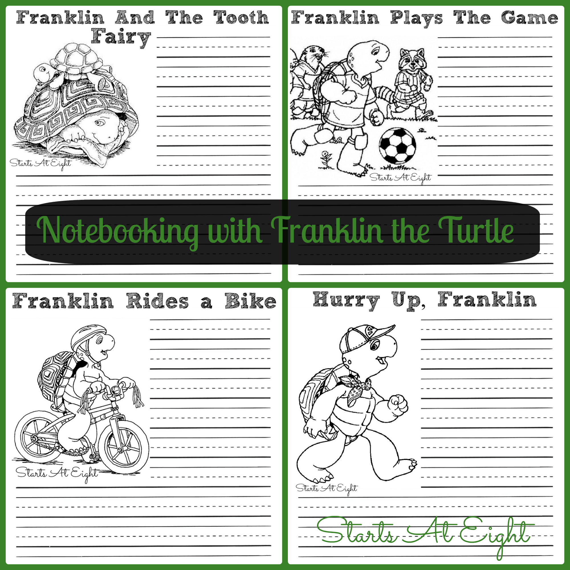 Notebooking With Franklin The Turtle