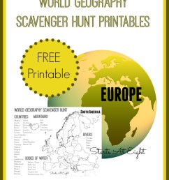 World Geography Scavenger Hunt: Europe ~ FREE Printable - StartsAtEight [ 1060 x 860 Pixel ]