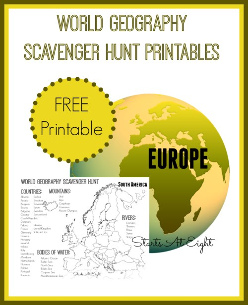 small resolution of World Geography Scavenger Hunt: Europe ~ FREE Printable - StartsAtEight