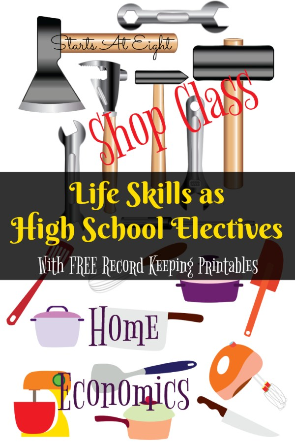 Life Skills as High School Electives Home Economics and