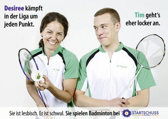 Willkommen - Sie spielen Badminton bei Startschuss