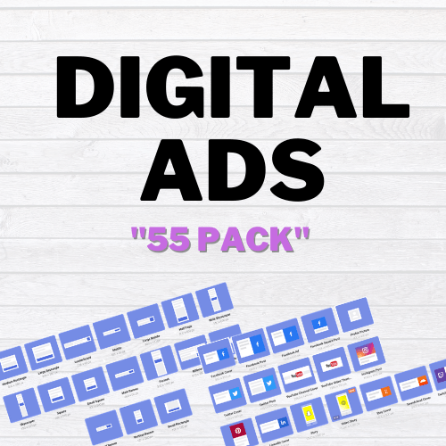 get digital ads 55 pack display ads social media ads