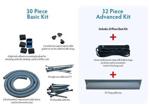 cable management for standing desks