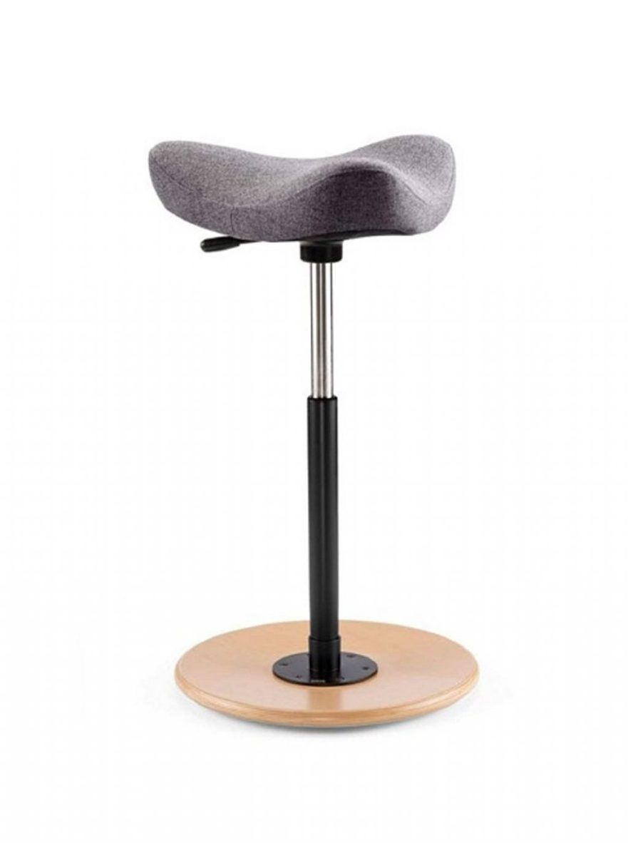 black on standing decor your workstation laminate with as stool adjustable ideas desk base brown office metal round design for wooden plus computer home swivel additional furniture well chair placed interior ergonomic floor
