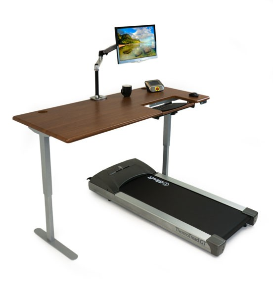 iMovR Cascade Treadmill Desk side view