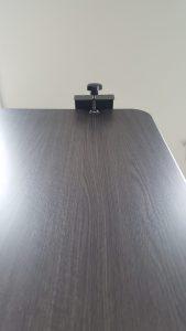 MojoDesk clamp above tabletop