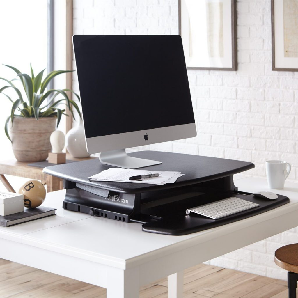 chair mount keyboard tray canada twin sleeper the best standing desk converters of 2019 start