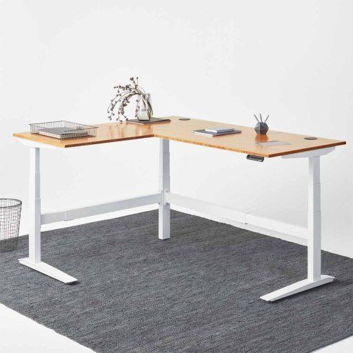 Fully Jarvis L-Shape - Best Standing Desks For Businesses