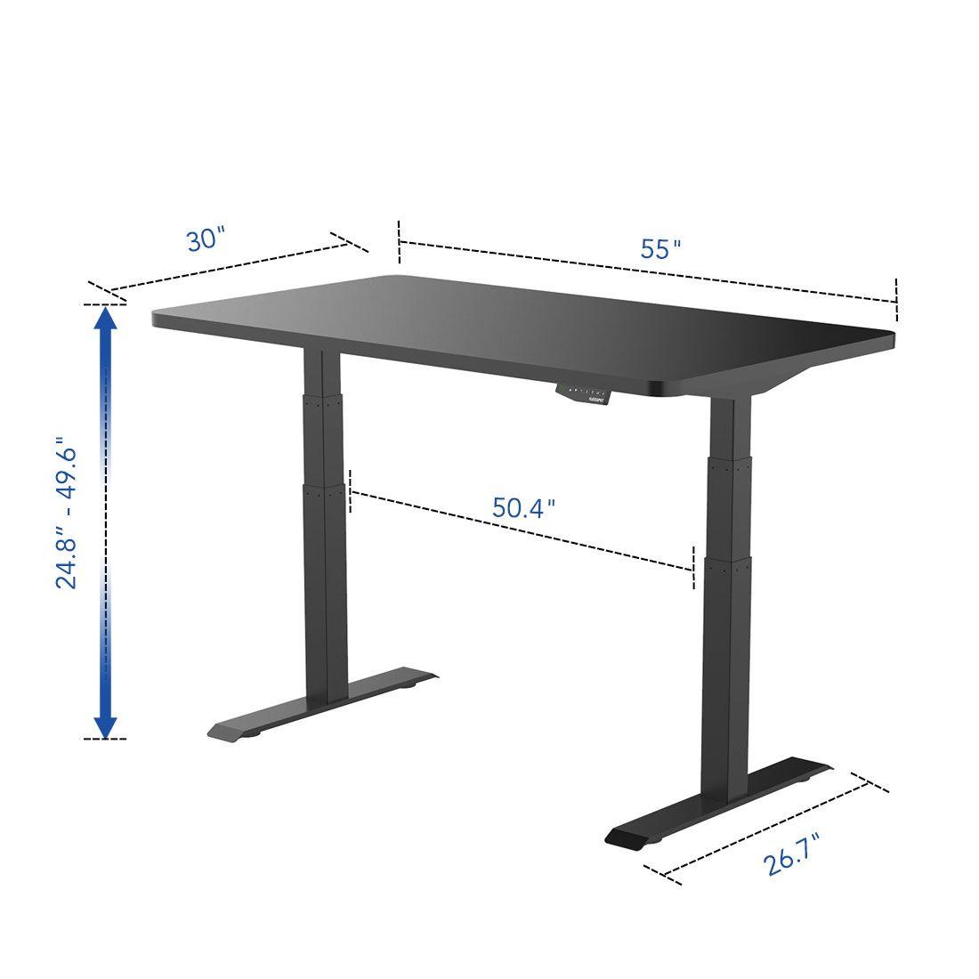 Flexispot Sanodesk Standing Desk Dimensions