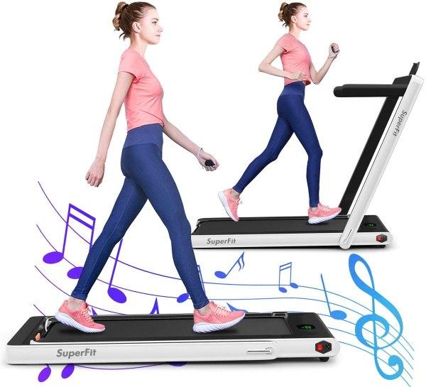 Gymax 2 in 1 folding treadmill