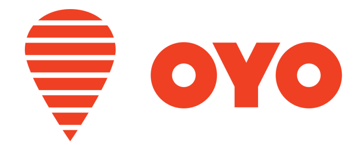 OYO Rooms logo, makes it's name to Top 10 Startups in India