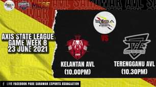 Saksikan 2 perlawanan Sarawak AVL dalam Axis State League dibawakan oleh Axis Es…
