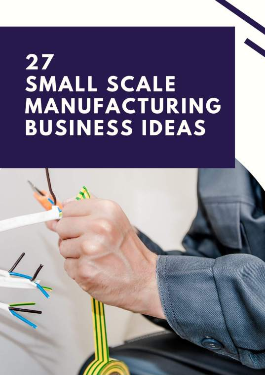 27 manufacturing business ideas in india