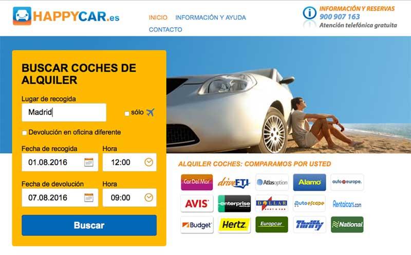 HAPPYCAR.es comparador de precios de coches de alquiler