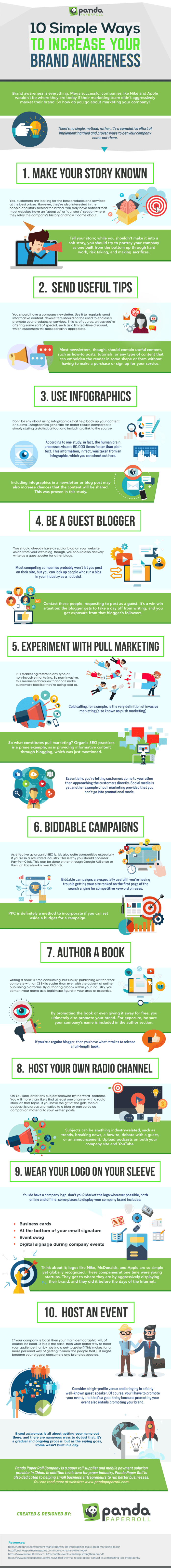 10 Simple Ways to Increase your Brand Awareness Infographic