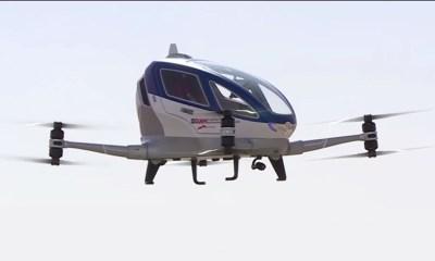 Watch Video: Dubai To Start Its First Autonomous Aerial Passenger Vehicle Ehang 184