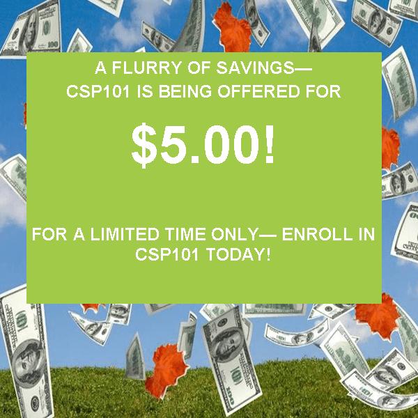 CSP 101 sale $5