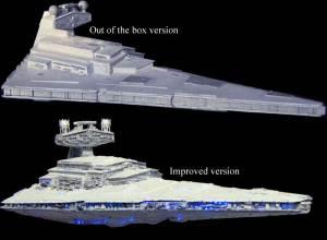 Star Wars Model Kits and Images: MPCERTL Star Destroyer plastic model kit