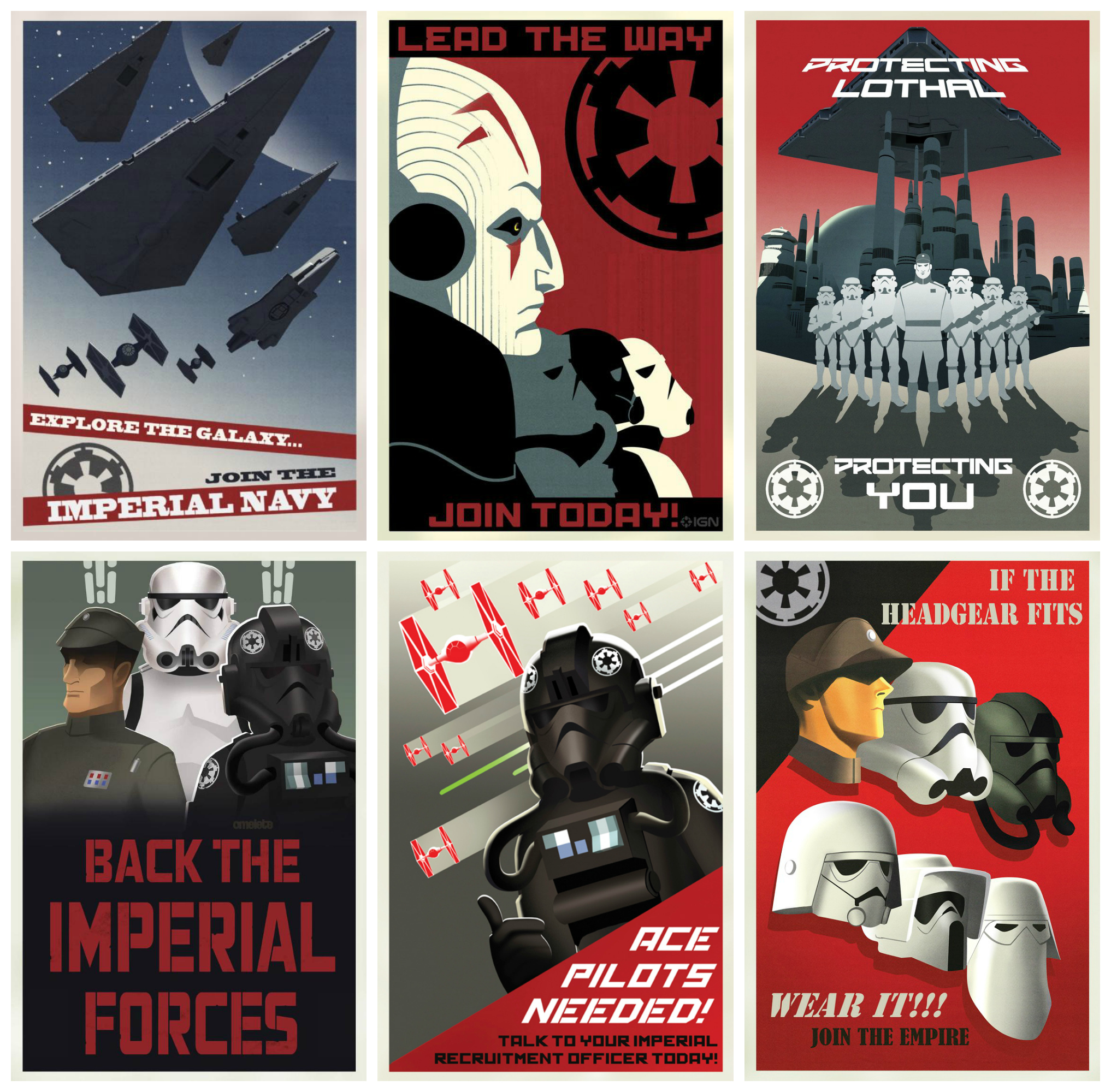 Star Wars Rebels Imperial Recruitment Posters