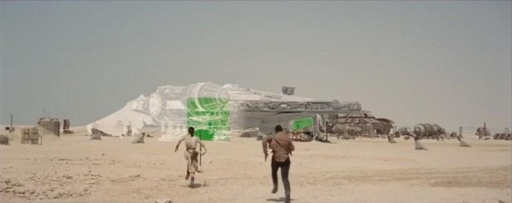 De Millennium Falcon on Jakku