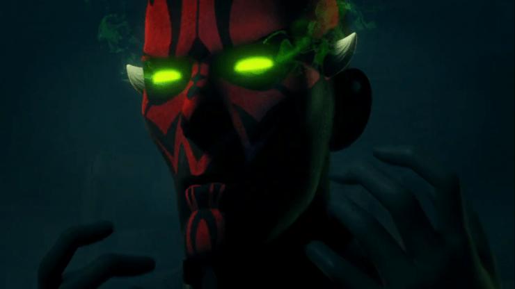Eerder zagen we Kanan al onder invloed van groene Nightsister Magick, nu blijkt ook Maul er ten prooi aan te vallen.. Wat gebeurt hier?!