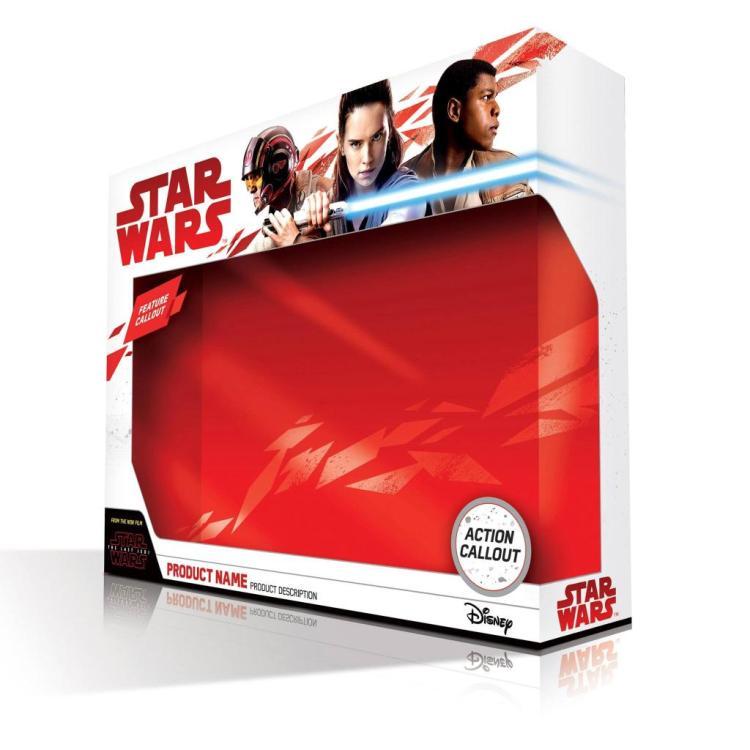 The Last Jedi merchandise verpakking.