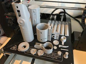 Alle onderdelen op het printbed