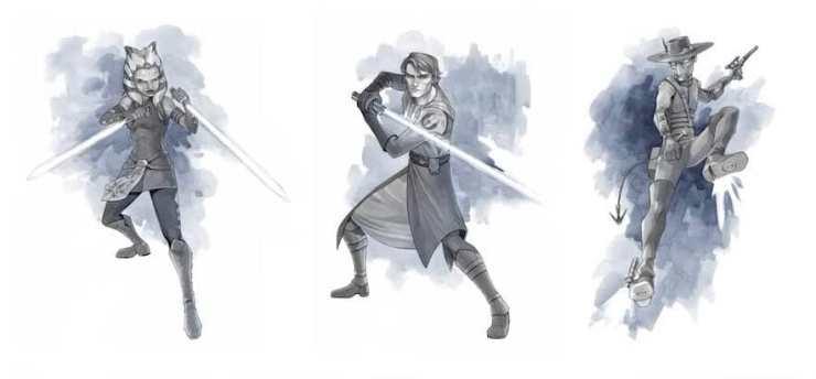 Enkelen van de schetsen van Ksenia Zelentsova.