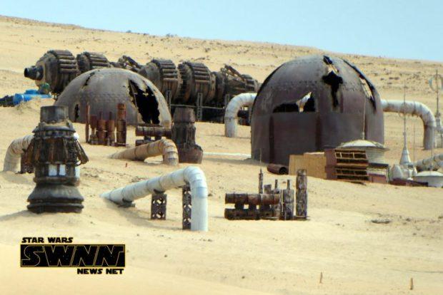 Un décor en construction pour le tournage de la Star Wars Story sur Han Solo à Fuerteventura