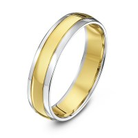 White And Gold: White And Yellow Gold Wedding Rings
