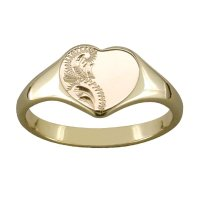 Gold heart shaped signet ring | Cool costume jewelry for you