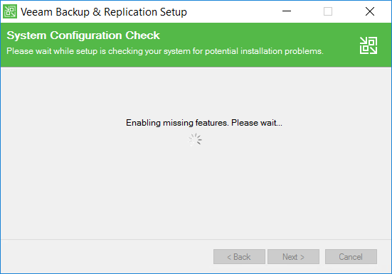 Veeam Backup and Replication System Configuration check