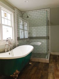 DENVER BATHROOM REMODEL WITH CLAW FOOT TUB AND GLASS ...