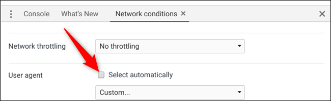 """Uncheck the """"Select Automatically"""" option."""