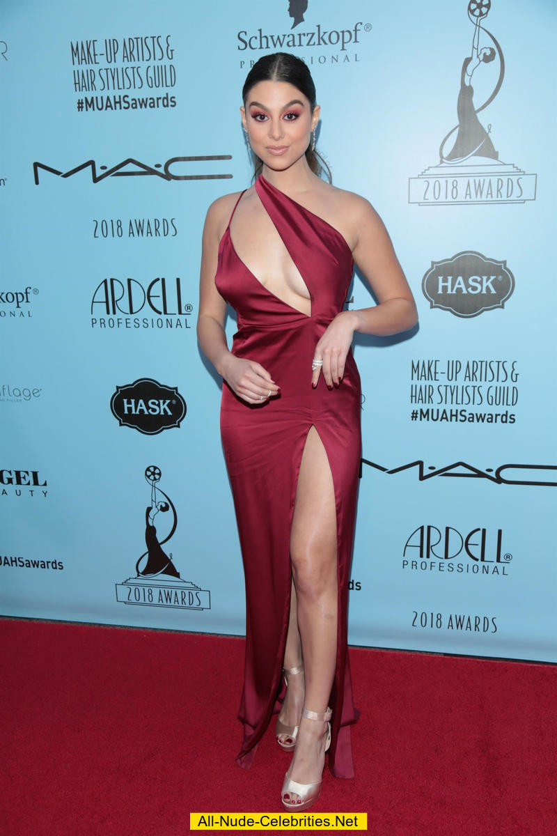 Kira Kosarin Legs And Cleavage In Red Dress