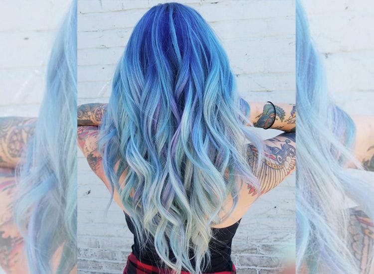 Ocean Hair Im Sommer 2017 Trgt Man Blaue Haare STARZIP