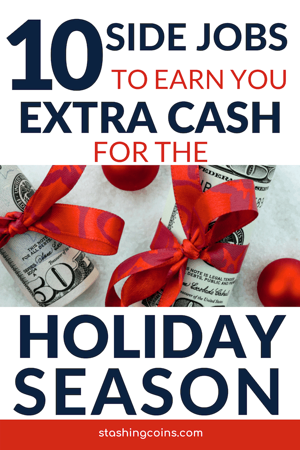 Side job ideas to make you extra money for Christmas holidays.