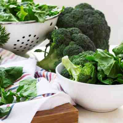 Quick brocolli spinach ingredients